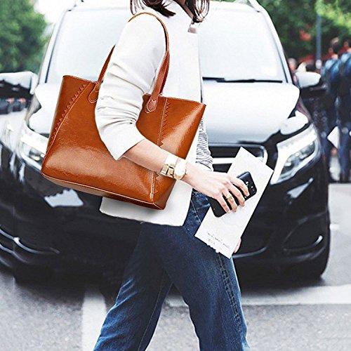 Cire à à Main Fourre Sac Mode Brown La De Sauvage Sacs L'huile tout Femmes Des Sac De Shopping Simple Pfdvwpq