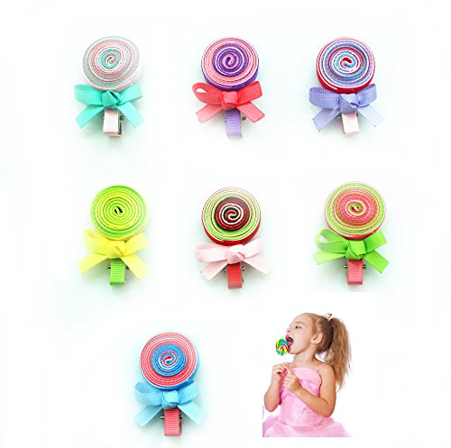 7 Pcs Candy Hair Clips