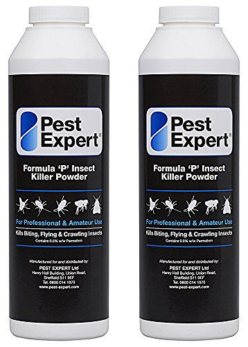 Cluster Fly Killer Powder 2 x 300g - Formula 'P' Fly Powder XL pack size from Pest Expert (HSE approved and tested – professional strength product)