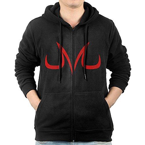 GGDDAA Men's Dragon Ball Z Majin Vegeta Leisure Classic Hoodie Sweatshirt Leisure Style L Black