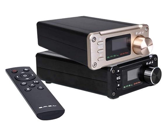 Gemtune SMSL SA-50 Plus TAS5766M 50WX2 HiFi DAC Amplifier w/Remote Control,Digital Power Amplifier, OLED Display, USB/SD Reader, 3.5mm AUX/Optical Inp at amazon