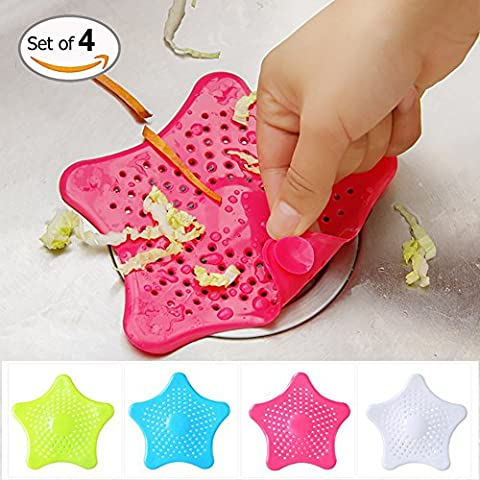 Bathroom Sink Filter Sewer Drain Strainer Colorful Starfish Shaped Bathtub Drain Cover Hair Catcher (Bathroom Stand Up Sink)