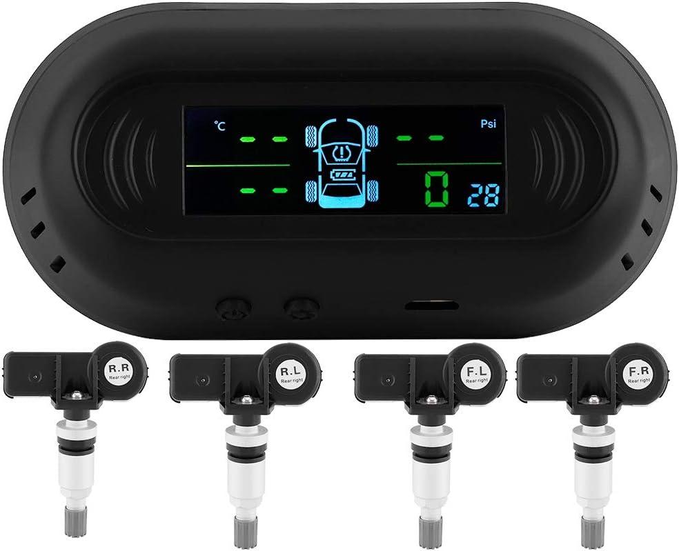 pantalla LCD universal de 52 mm y 2 pulgadas Sistema de monitoreo de presi/ón de neum/áticos de motocicleta TPMS EBTOOLS Sensor TPMS de motocicleta