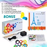 3D Doodler Pen - 3D Printing Pen 4.0 Version - Non-Toxic - Wont clog - One Button Operation Comes w/ 4 Drawing Templates +3 PLA Filament +1 Small Shovel + 1 Transparent Sheet