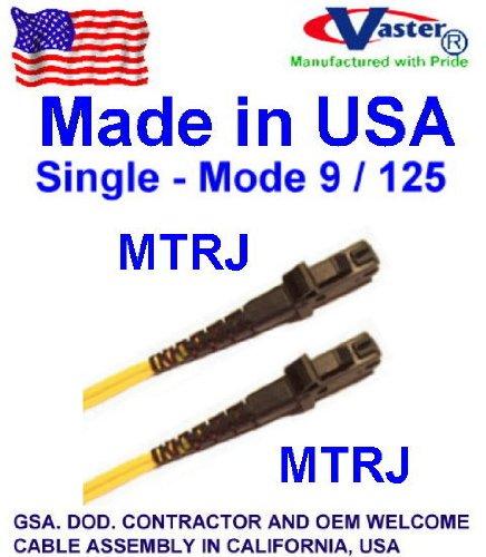 Made in USA 20 M MTRJ - MTRJ Duplex Singlemode 9 / 125 Fiber Optic Patch Cable (PVC Type)