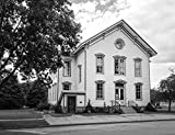 Vintography 8 x 12 Black White Photo The Italianate-Style White School Building in Spring Green, Wisconsin, Built in 1877, Had Four classrooms 2016 Highsmith 54a