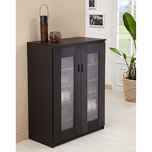 Iohomes Brisk 5 Shelf Shoe Cabinet Black Buy Online In