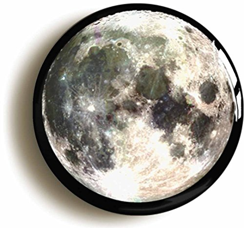 Full Moon Button Pin (Size Is 1inch Diameter) Space Science Geek Costume - Button Moon Costume