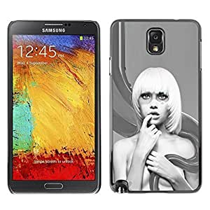 Hu Xiao Licase Hard protective case cover Skin Cover - Abstract Blonde Woman - Samsung Note 3 UCUpQZYbKAY