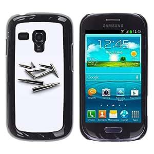 TopCaseStore / la caja del caucho duro de la cubierta de protección de la piel - Gold Bullet MM - Samsung Galaxy S3 MINI NOT REGULAR! I8190 I8190N