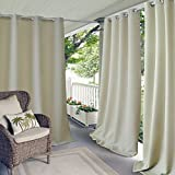 gazebo curtains amazon Elrene Home Fashions Indoor/Outdoor Patio Gazebo Pergola Solid Grommet Top Single Panel Window Curtain Drape, 52 Inch Wide x 84 Inch Long, Taupe (1 Panel)