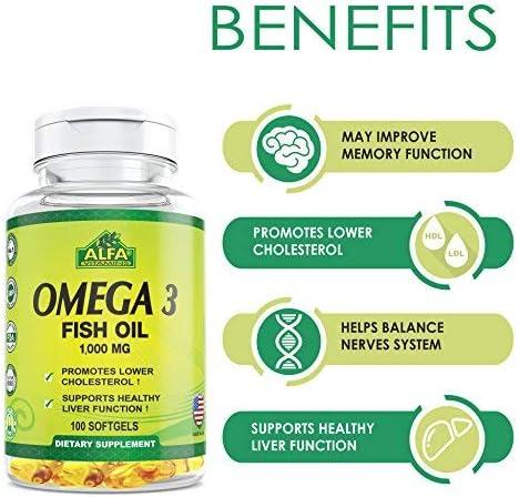 Amazon.com: Alfa Vitmains Omega 3 1000 Mg Softels, 100 Count ...