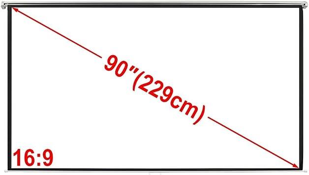 vidaXL Pantalla proyección Manual 200 x113 cm Blanco Opaco 16 ...
