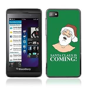 YOYOSHOP [Funny Santa Is Coming ] Blackberry Z10 Case