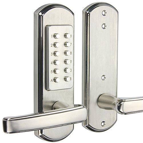 Keyless Combination - YAXINTRD Left Handed Keypad- Not Deadbolt Door Lock Keyless Entry Mechanical Digital Code Combination Security Password Stainless Steel 304 Handle Levers