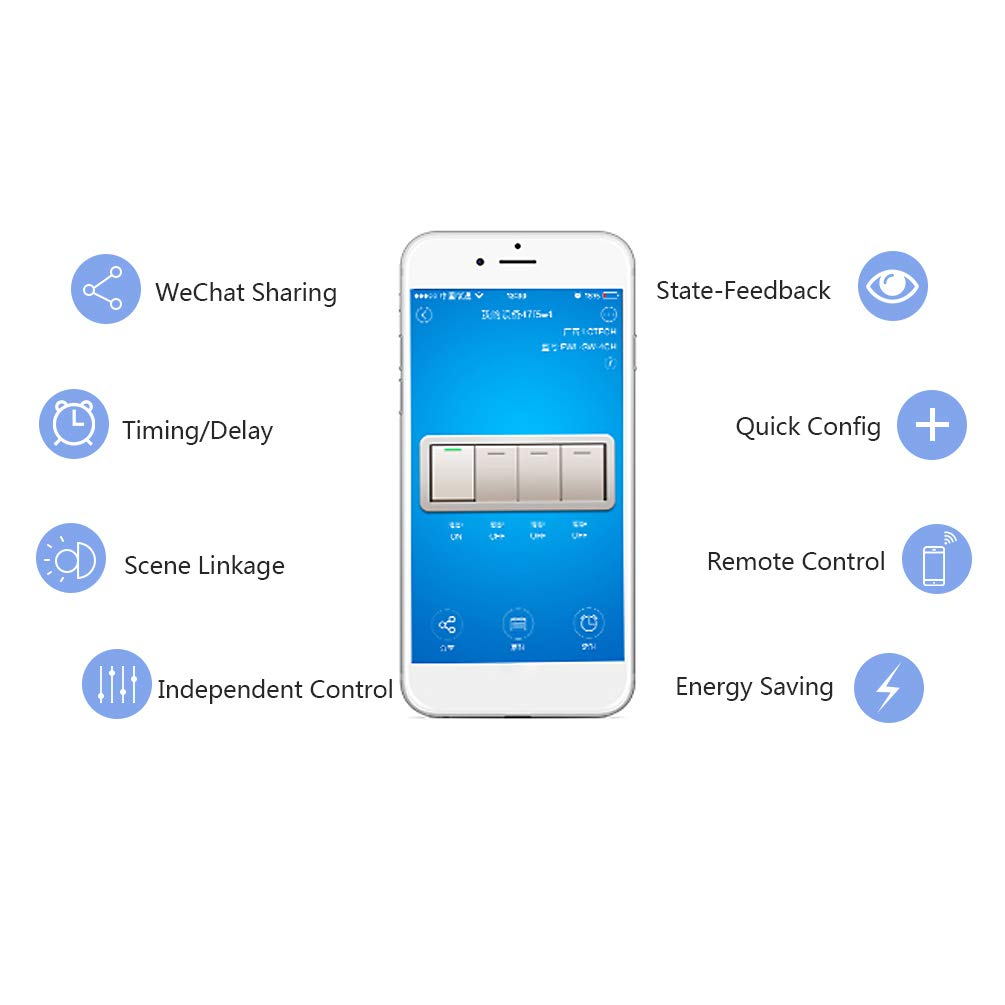 Whdts 4 Channel Wifi Momentary Inching Self Locking Interlocking Turnoff Delay Device Relaycontrol Controlcircuit Circuit Relay Switch Module Smart Home Remote Control Ac 220v Compatible With Alexa Google