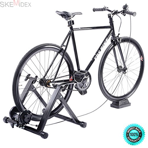 SKEMiDEX---Exercise Bike Stand Indoor Bicycle Cycling Trainer Magnet Steel Frame Stationary. Folding design, easy to carry and storage Fixed device, easy to install and remove Fit