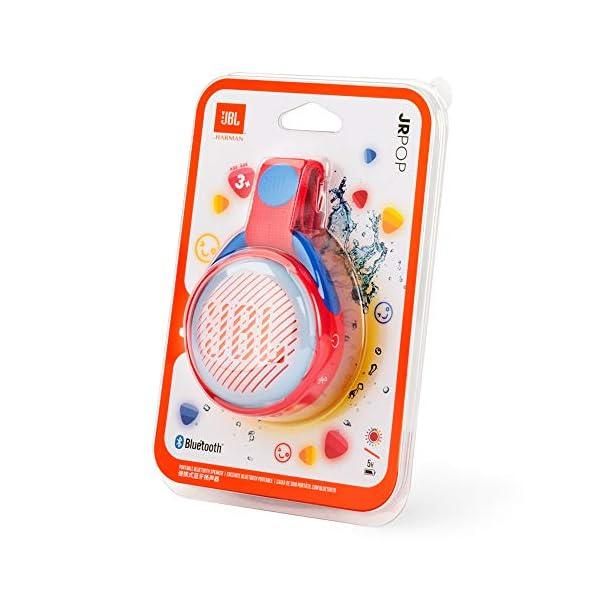 JR POP JBL - Enceinte portable pour enfants - Bluetooth & Waterproof - Avec modes lumineux multicolores & autocollants - Autonomie 5 hrs - Rouge 7