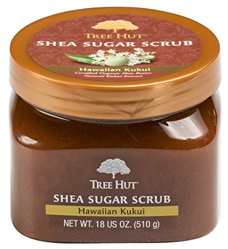 Tree Hut Sugar Body Scrub 18 Ounce Hawaiian Kukui Shea