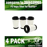 4 Pack for Dirt Devil F2 HEPA Vacuum Filter (compares to 3SFA11500X). Genuine Green Label Product.