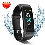 Fitness Tracker, Activity Tracker Watch with Heart Rate Monitor, Waterproof IP68 Pedometer with Step Counter Sleep Monitor Calorie Counter for Android & iPhone(2019 New Model)
