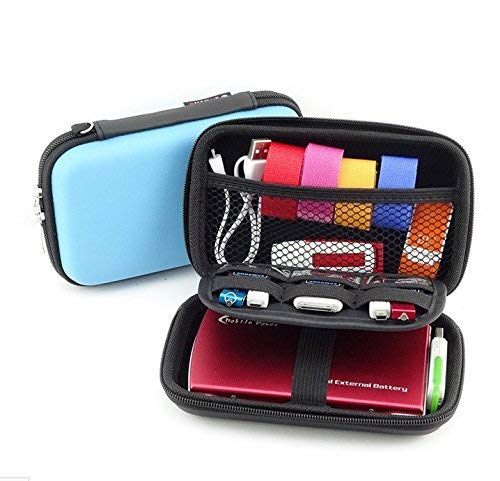 Eva Hard Shell James Diabetes Compact Case for Glucose Meter Test Strips Lancing Device. (Blue)
