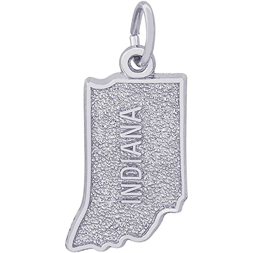 (Rembrandt Charms Sterling Silver Indiana Charm (16.5 x 9)