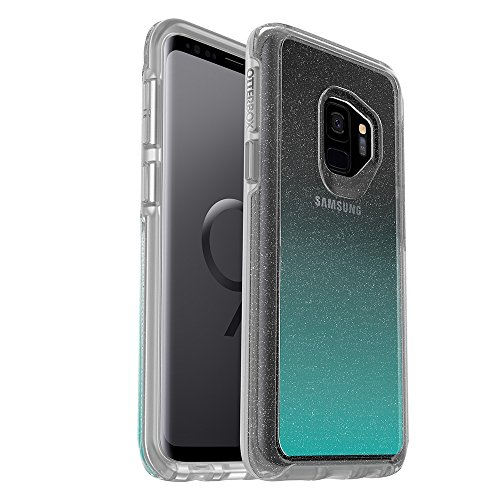 OtterBox Symmetry Clear Series Case for Samsung Galaxy S9 - Frustration Free Packaging - Aloha Ombre (Silver Flake/Clear/Aloha Ombre) (Slim Otterbox Case For Samsung S5)
