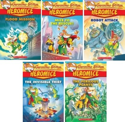 Geronimo Stilton Heromice #1–#5 Pack: Perilous Plants, Flood Mission, Invisible Thief, Robot Attack, Mice to the Rescue,