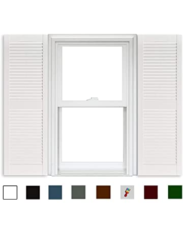 Window Shutters | Amazon.com on mobile home doors, mobile home interior makeovers, mobile home remodel, mobile home vinyl siding colors, mobile home siding for houses looks like wood, mobile home painting ideas, mobile home paint colors, mobile home patio awnings, mobile home skirting,