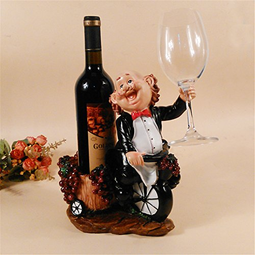 Ussuperstar Cute Chef Waiter Wine Bottle Rack Holder Home Kitchen Living Dining Room Decor Accent (Chef And Wine Decor)