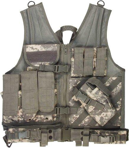 ACU Digital Camouflage Cross Draw Tactical Vest