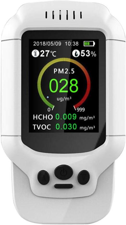 PM1.0 Micron Dust para Oficina En El Hogar Detector De Formaldeh/ído Saiko Monitor De Contaminaci/ón De La Calidad del Aire PM10 Detecte PM2.5