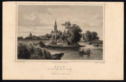 Antique Print-EDAM-PURMERRINGDIJK-CHURCH-NETHERLANDS-Terwen-Umbach-1863