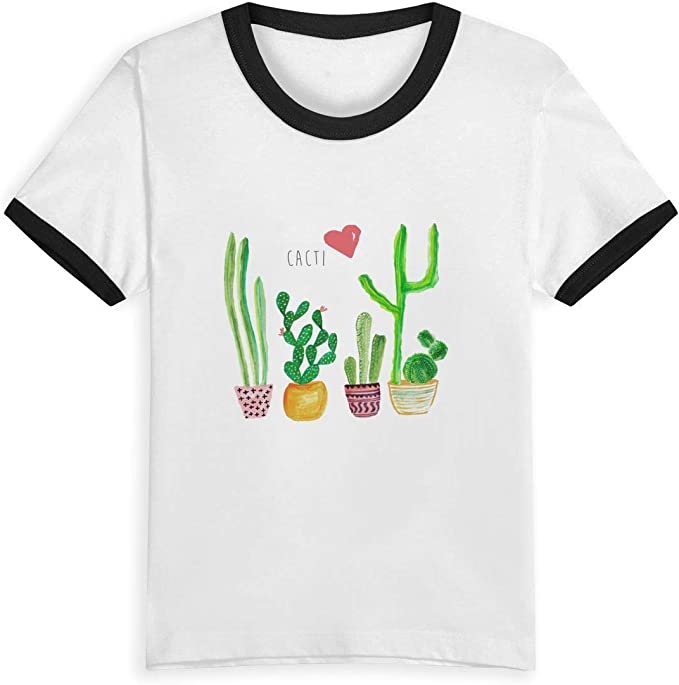 Queen Elena Cactus Love, 2 – 6Y Cartoon Print Boys T Shirt Summer Infant Kids Niñas Fashion Camisetas Ropa Algodón Bebé Contraste Color Negro Negro (3 años: Amazon.es: Ropa y accesorios