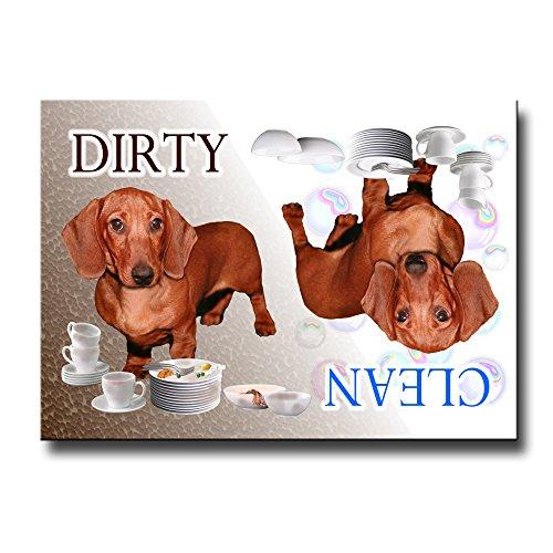 - Dachshund Clean Dirty Dishwasher Magnet No 5