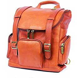 Claire Chase Portofino Computer Backpack Reg, Laptop Bag in Saddle