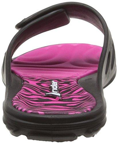 Mehrfarbig Femme Viii Rider Ouvertes Fem black Sandales Multicolore Pink 8018 Ff Key fBBO8