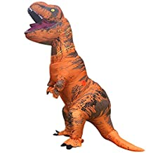 Jurassic World T-Rex Inflatable Adult Costume Blow up Fancy Dress Cosplay Costume