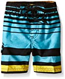 Kanu Surf Little Boys' Toddler Echo Stripe Swim Trunk, Aqua, 4T