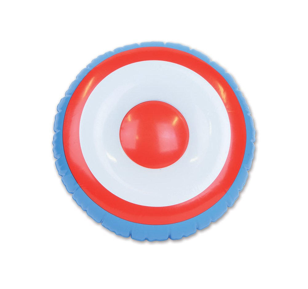 Red White /& Blue Giant Inflatable Super Hero Shield Biestle