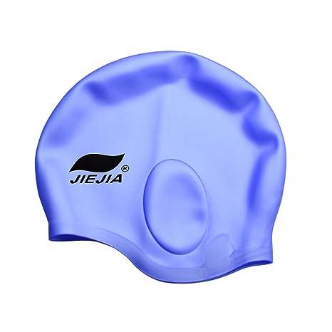 c422615af2ff Kancai® Cuffia da nuoto in Silicone, per donne e uomini di capelli lunghi da