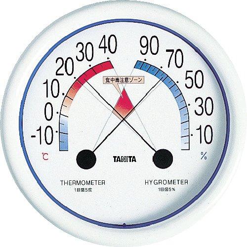 タニタ食中毒注意ゾーン付壁掛け温湿度計