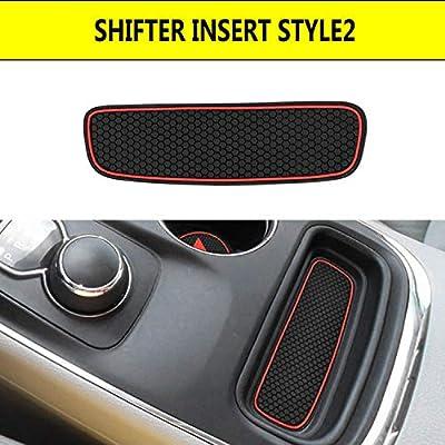 Cup Holder Insert & Center Console Shifter Liner Trim Storage Bin Mat Custom Fit for 2014 2015 2016 2020 2020 2020 2020 Dodge Durango Non Slip Interior Accessories - 5pc: Automotive
