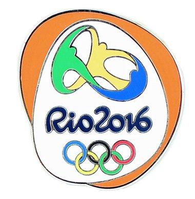 PINS Rio de Janeiro 2016 Olympics Logo Orange