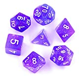 Hengda dice Polyhedral 7-Die Dice Set Galaxy Dnd Gaming Dice for Dungeons and Dragons Tabletop