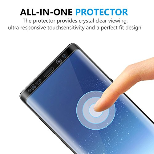 Galaxy Note 8 Screen Protector, LEDitBe[2-Pack][Case Friendly][Anti Scratch][Anti-Bubble]3D cured Premium Tempered Glass Screen Protector for Samsung Galaxy Note 8[black] by LEDitBe (Image #1)