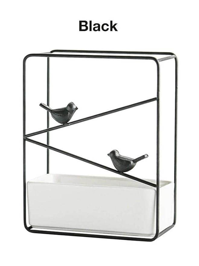 Jaula para pájaros de hierro forjado minimalista en macetas de ...