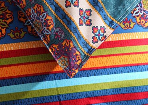 Cot In A Box Morocco Turquoise: 3-Piece Bohemian Ethnic Retro Multi Color Bedding Sets