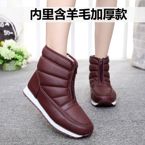 SQIAO-X- Inverno madre scarpe scarpe di cotone vecchi Snow Boots stivaletti caldo impermeabile corto a fondo piatto e stivali ,39, ? anziani.